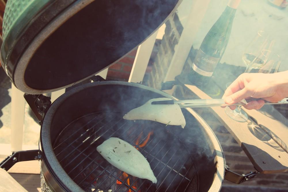 Gegrilde inktvis met rozemarijn en zeezout