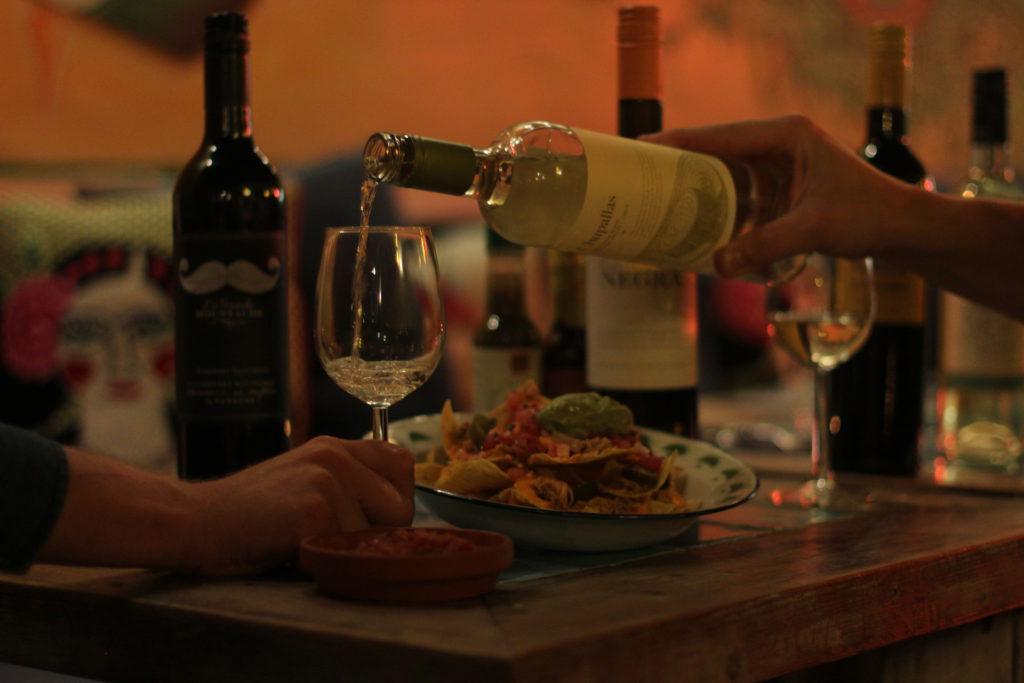 taco's and wine
