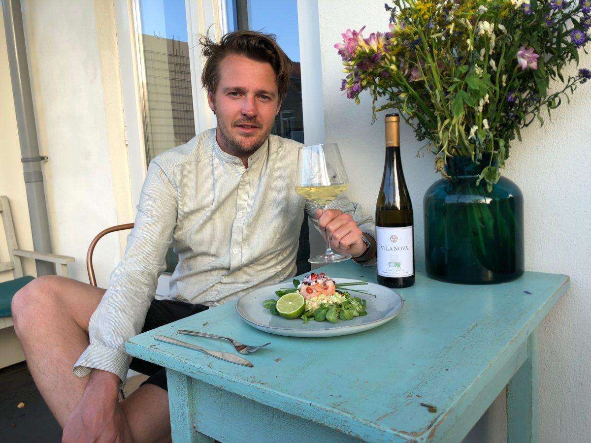 Wijnspijs: Tim's voorjaarsalade en onze Vila Nova Vinho Verde